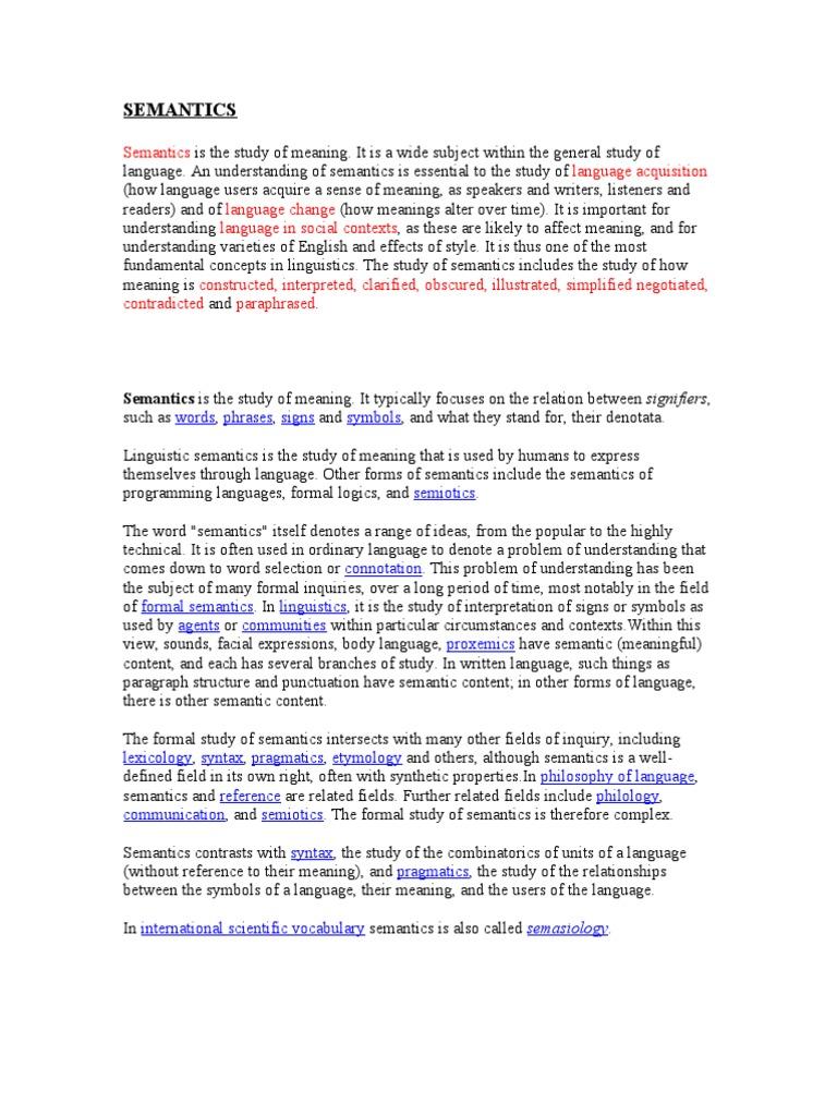 Semantics Semantics Symbols