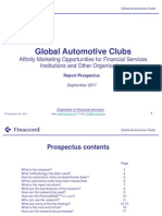 Report Prospectus Global Automotive Clubs Affinity Marketing Opportunities