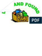 Lost and Found Template