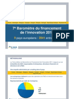 7e Barometre du financement de l'innovation 2011
