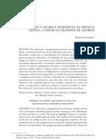 LOUREIRO, R Aversão à teoria e indigência da prática crítica a partir da filosofia de Adorno