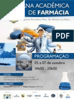 Cartaz Finalizado II Semana Acadêmica de Farmácia FPP