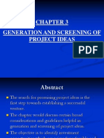 Chapter Generation and Screening of Project Ideas
