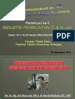 Pertemuan Ke-3 (Industri Pembuatan Oksigen Dan Nitrogen Cair)