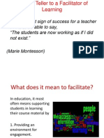 From Teller to Facilitator of Learning