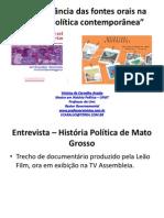A IMPORTÂNCIA DAS FONTES ORAIS NA HISTÓRIA POLÍTICA