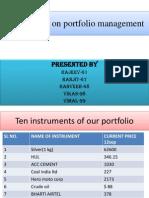 Presentation on Portfolio Management 11
