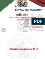 Inflación en Agosto 2011 - BCP - PortalGuarani