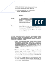 Projet d'Entente de Nouvelle Relation Entre ITUM-QC (Version Du 9-9-11) (Sujet a Approbation)