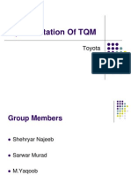 Total Quality Management of Toyota