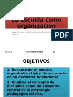 La escuela como organización
