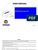 Epson Stylus Photo 750 Service Manual