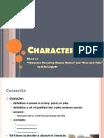 SPAENG Character Notes