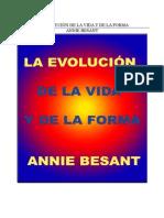 ANNIE BESANT-Evolucion Vida Forma