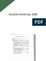 Variante Chimie Bac 2009 Vol 1