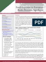 U.S. Money Fund Exposure to European