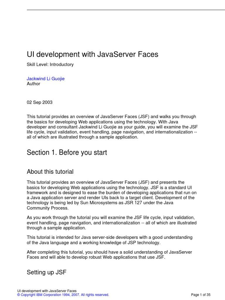 J jsf a4 java server faces java server pages baditri Image collections