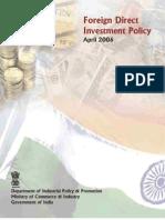 FDI Policy 2006