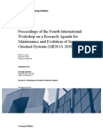 Proceedings of the Fourth International Workshop on a Research Agenda for Maintenance and Evolution of Service-Oriented Systems (MESOA 2010)