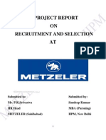 Project of Recruitment and Selection