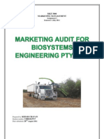 Marketing Audit-Biosystems Engineering.