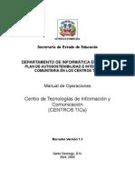 Manual de Operaciones Centro TICs 1