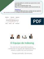 2. El Equipo de Indexing