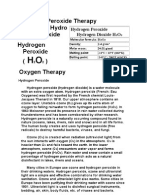 25302516 Hydrogen Peroxide Therapy | Cellular Respiration | Hydrogen