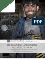 Job Creation in Afghanistan