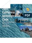 2007 California Administrative Code