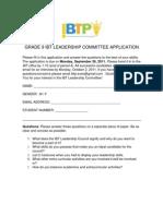 Gr.9 Leadership Committee - App 2011