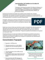 Ampliación de concentradora de Southern en la mina de TOQUEPALA