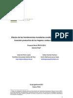 Efectos de Las transferencias monetarias condicionadas en la inversión productiva de los hogares rurales en el Perú