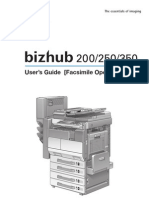 Biz Hub 200 Fax Guide