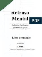 Retraso Mental AAMR-Librodetrabajo