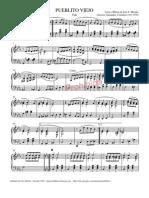 Pueblito Viejo - Partitura y Letra