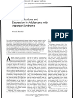 (Autism) Social Attributes and Depression in Adolescents With Asperger Syndrome
