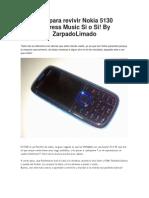 Guia Para Revivir Nokia 5130