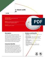 Kidde 1275E Smoke Detector Data Sheet