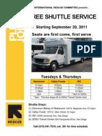 Shuttle Service Flyer