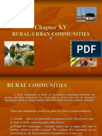 Chapter 15 Rural and Urban Society