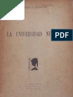 Alfredo Palacios - Universidad Nueva. 1925