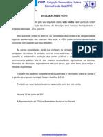 DECLARAÇÃO VOTO Consolidação Contas ponto 5