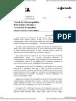 15-09-11 La reforma política debe incluir relección y revocación de mandato