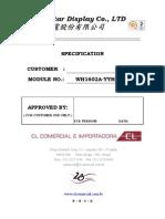 Display LCD_WH-1602A-YYH-JTK#