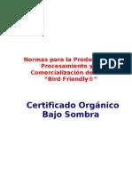 Bird Friendly Normas_produccion