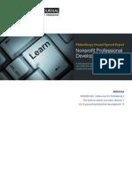 Philanthropy Journal Special Report- Non-Profit Professional Development