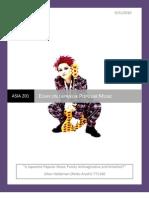 Asia 201 Essay - JAPANESE MUSIC AND HIDETO MATSUMOTO