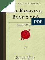 The Ramayana- Book 2 of 6 - Ramayan of Valmiki