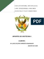 Temario de Geotecnia I